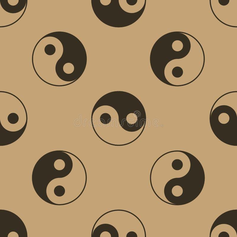 Yin yang cinese senza cuciture royalty illustrazione gratis