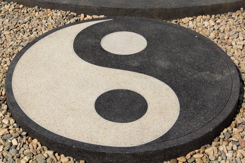Yin Yang circle in Chinese philosophy royalty free stock image