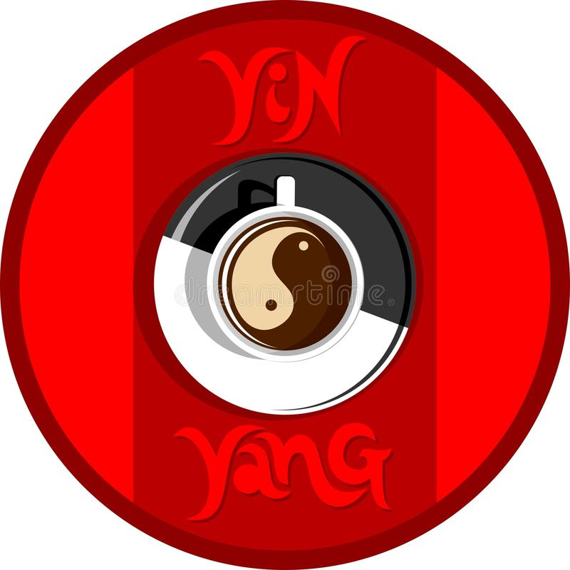 Yin yang coffee stock images