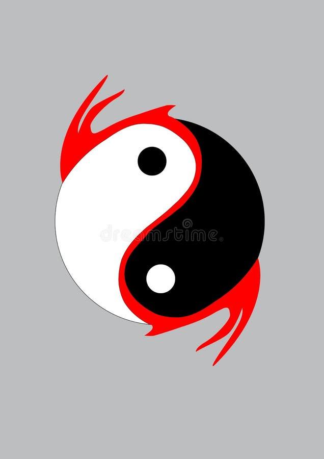 Yin Yang royalty free illustration