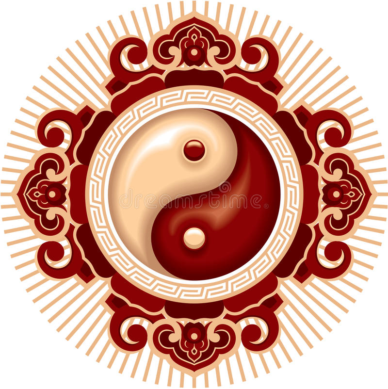 Yin Yang Composition royalty free illustration