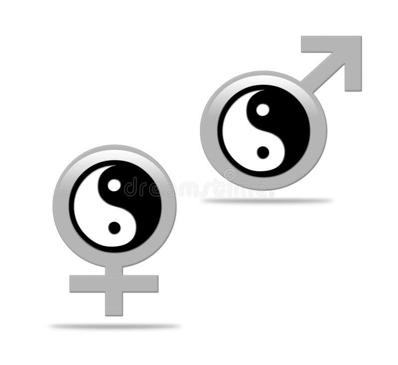 Yin yang concept stock illustration