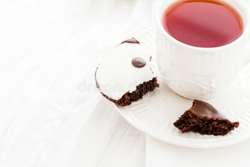 Yin and yang cookies stock photo