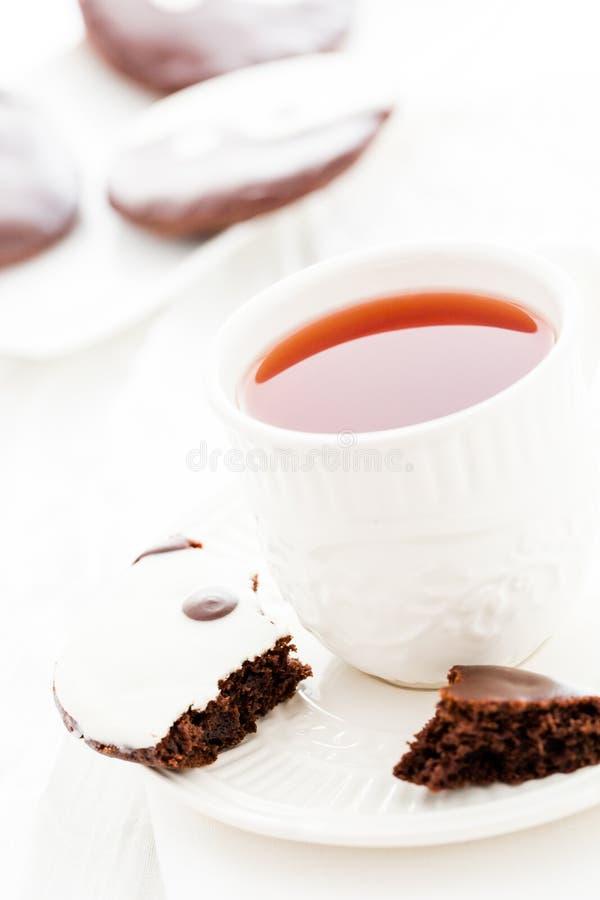 Yin and yang cookies stock image