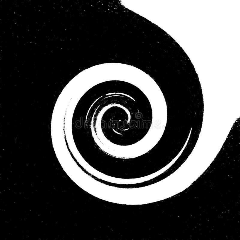 Yin yang dans la fusion illustration de vecteur