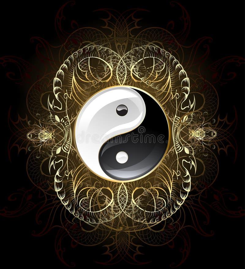 Yin yang del símbolo stock de ilustración