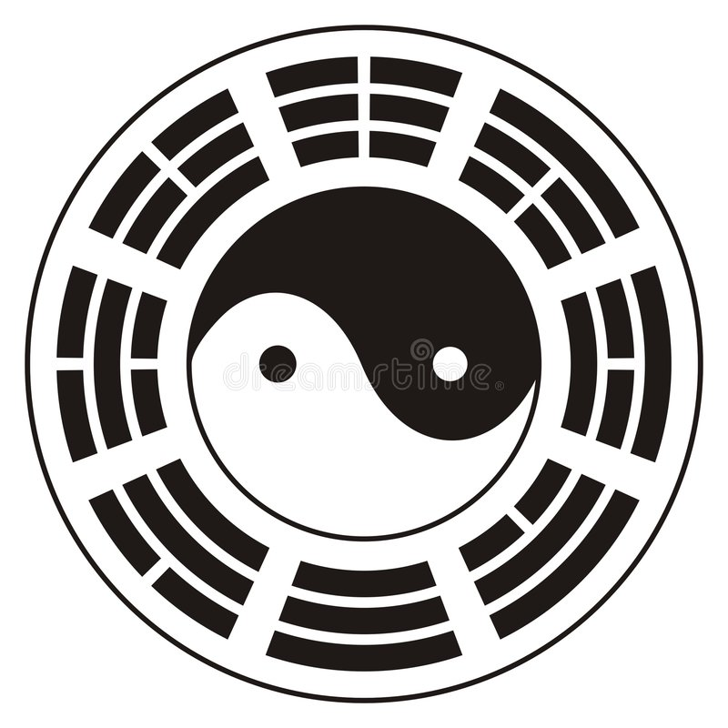 Download Yin Yang design stock vector. Image of trigrams, chinese - 7297840