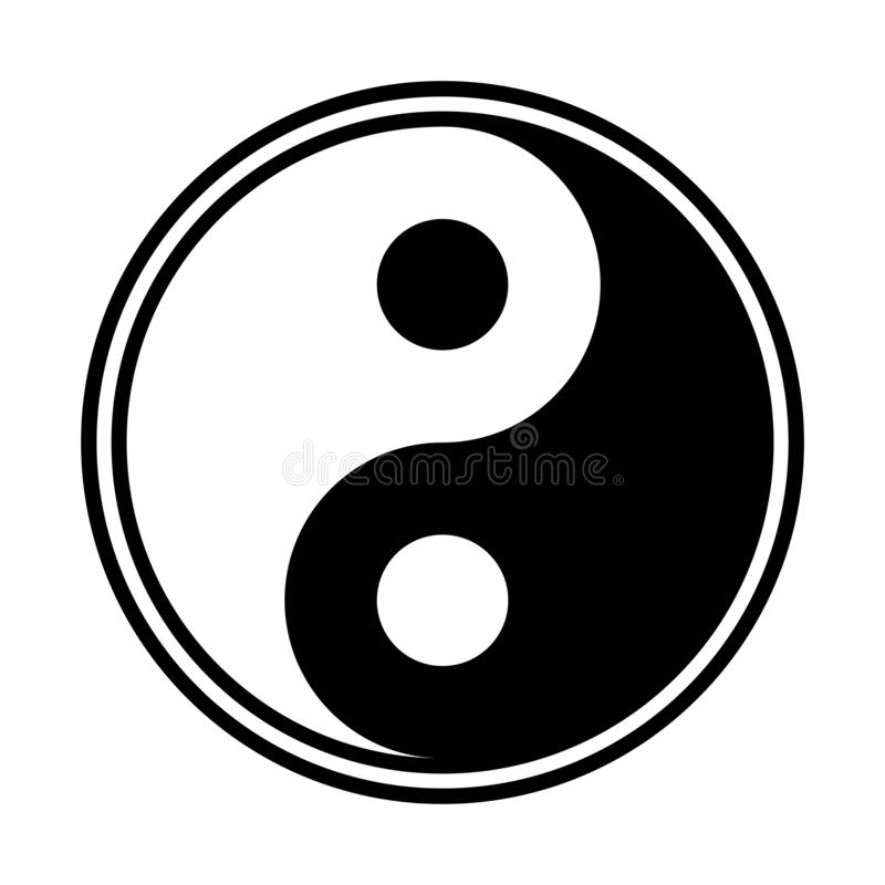 Yin And Yang. A yin and yang design isolated on a white background vector illustration