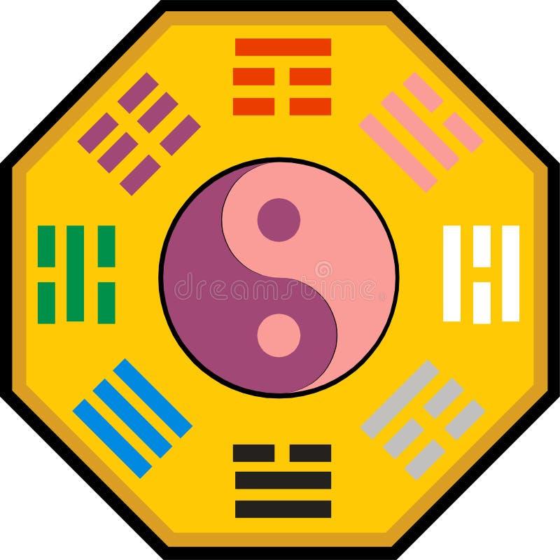 Yin Yang en bagua stock illustratie