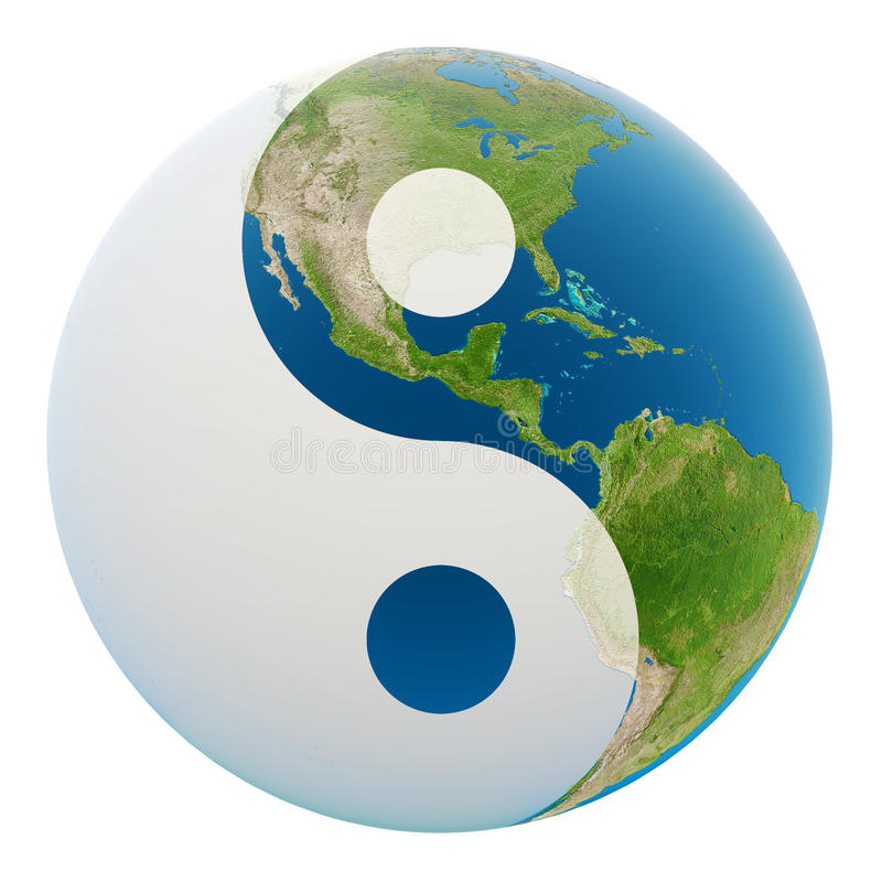 Yin Yang Erde lizenzfreie abbildung