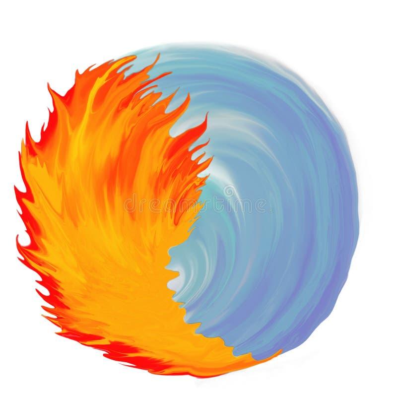 yin yang fire and water illustration stock illustration rh dreamstime com Yin Yang Transparent Cool Vector