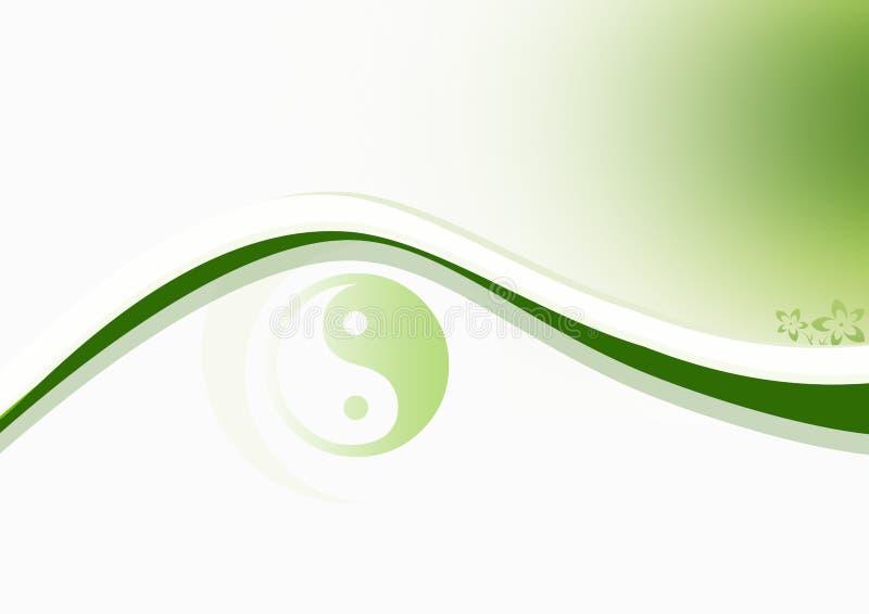 Download Yin & Yang Green stock illustration. Image of background - 1940798