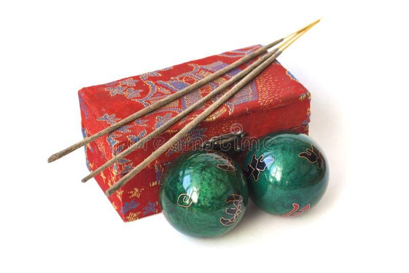 Yin Yang Health Balls foto de archivo