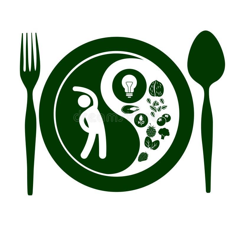 Yin Yang healthy Symbol. Eps10 Vector royalty free illustration
