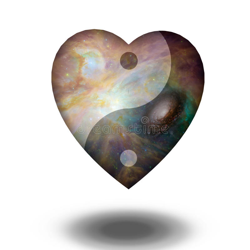 Yin Yang Heart vector illustratie