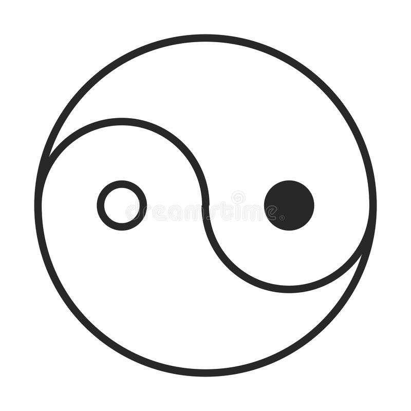 Yin-yang icon royalty free illustration