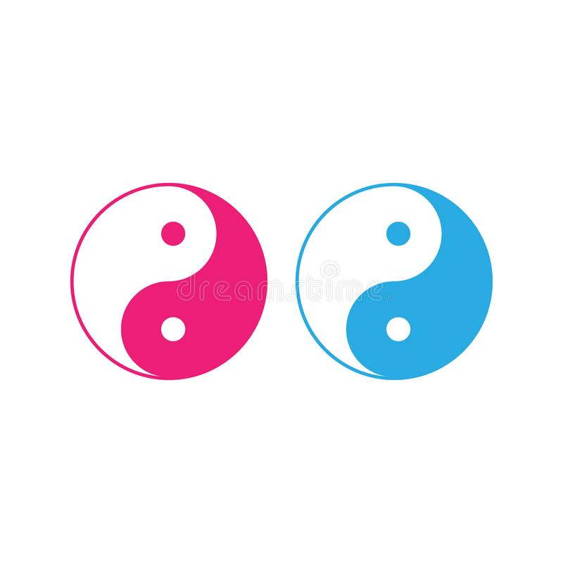 Yin Yang icon. Vector illustration, flat design. vector illustration