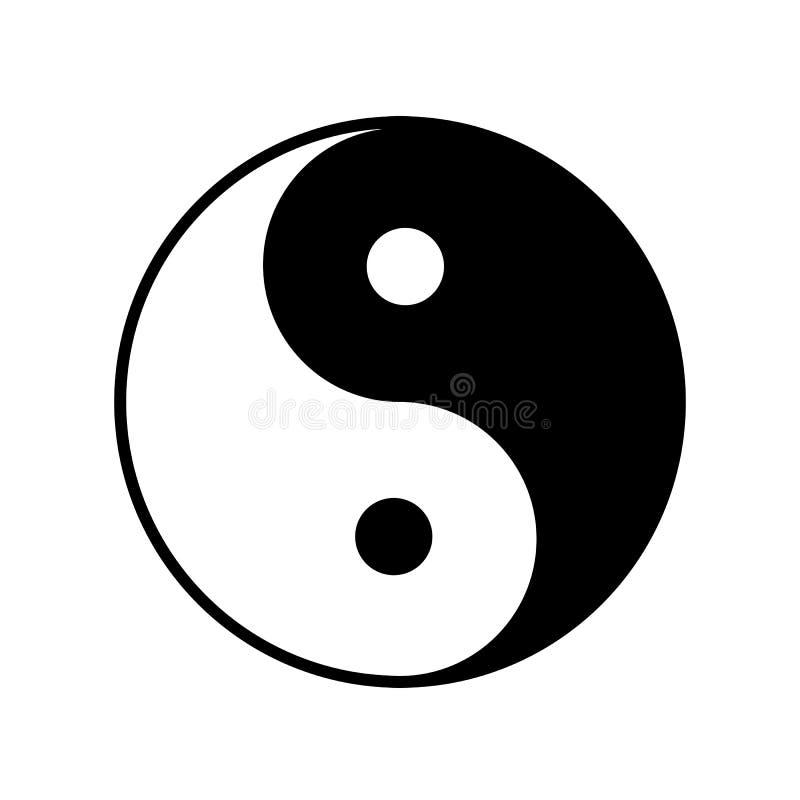 Yin Yang icon Vector. Yin Yang symbol. Vector icon silhouette illustration royalty free illustration