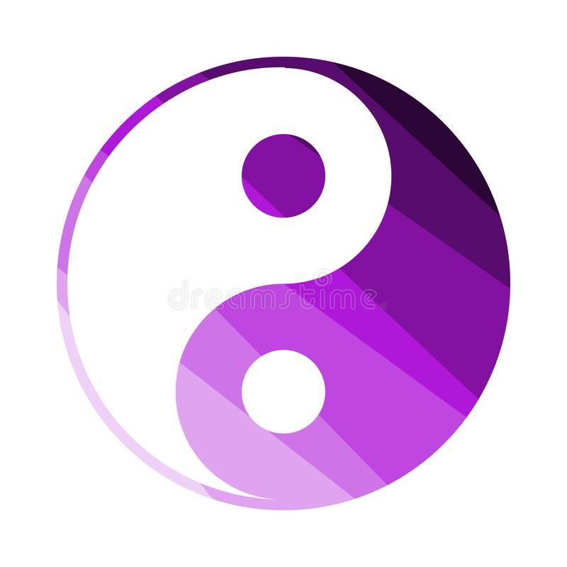Yin And Yang Icon. Flat Color Ladder Design. Vector Illustration vector illustration