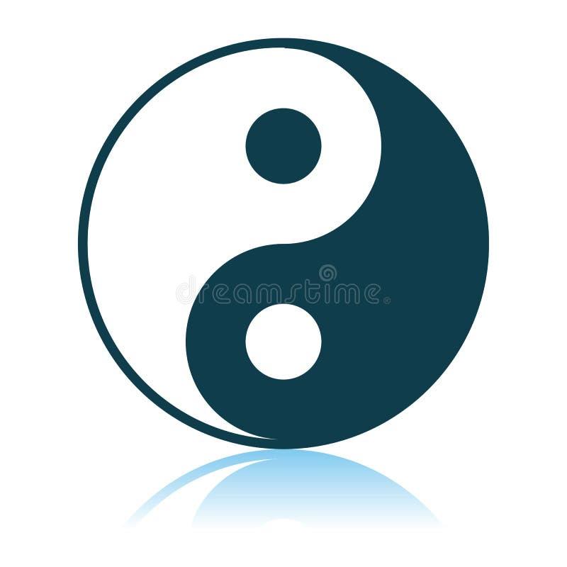 Yin And Yang Icon. Shadow Reflection Design. Vector Illustration vector illustration