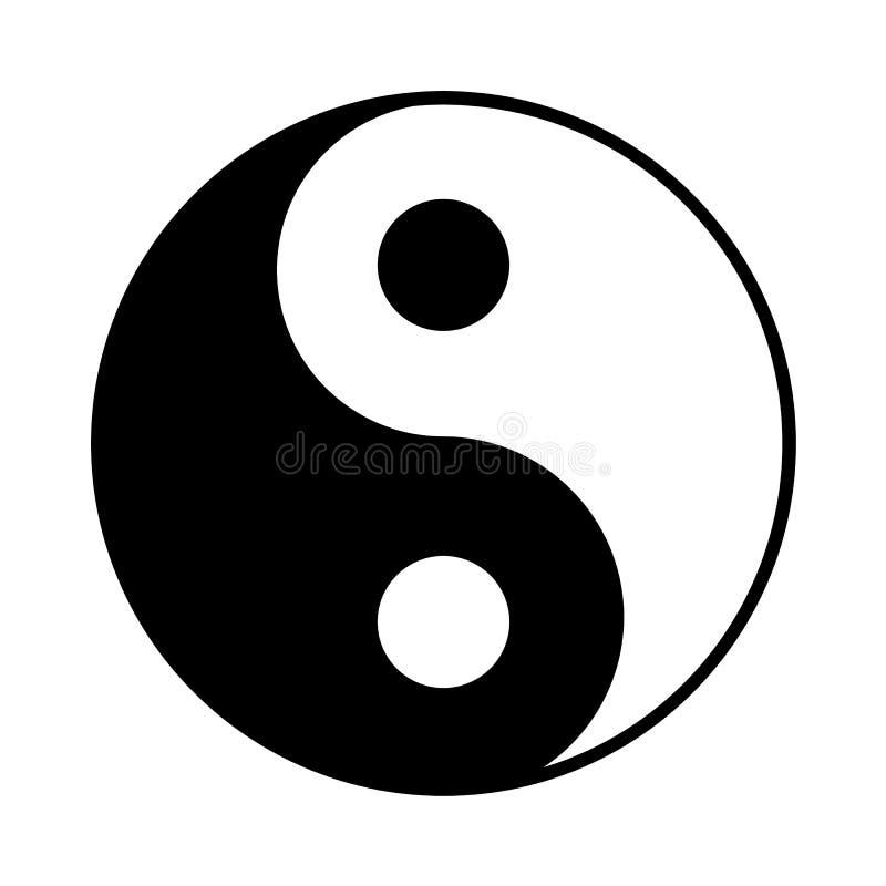 Yin Yang icon. Taoism symbol, vector illustration stock illustration