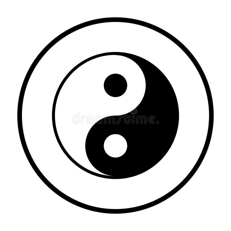 Yin And Yang Icon. Thin Circle Stencil Design. Vector Illustration vector illustration