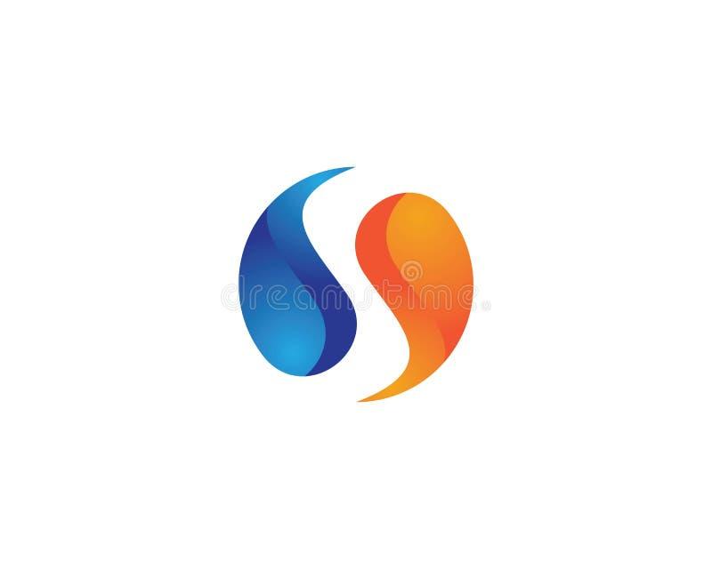 Yin yang icon stock illustration