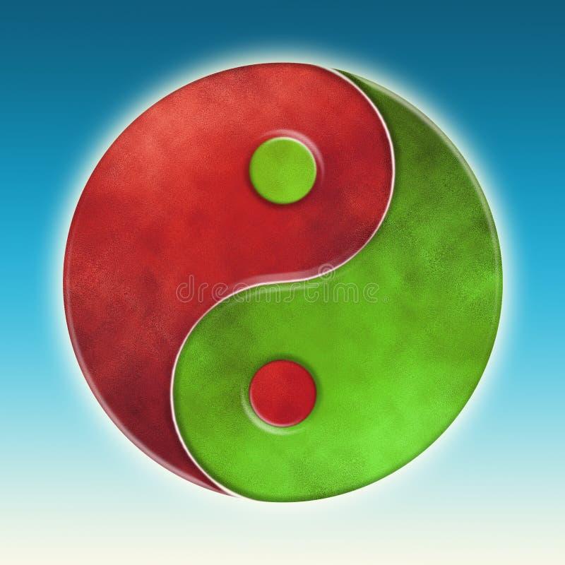 Yin Yang. Illustration of a yin yang symbol stock illustration
