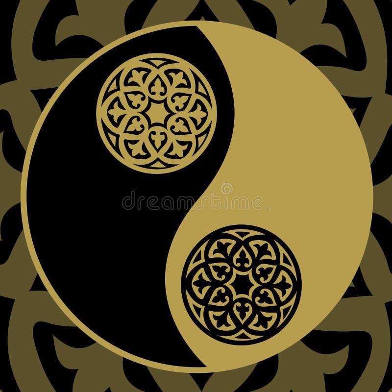 Yin-Yang im Gold vektor abbildung