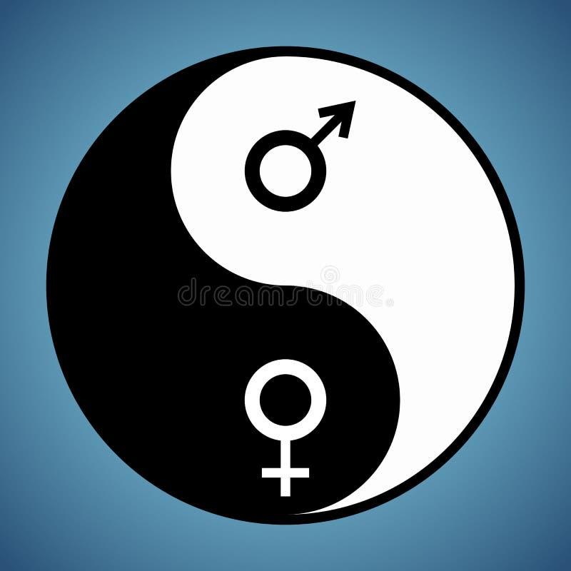 Yin Yang kobieta i mężczyzna ilustracji