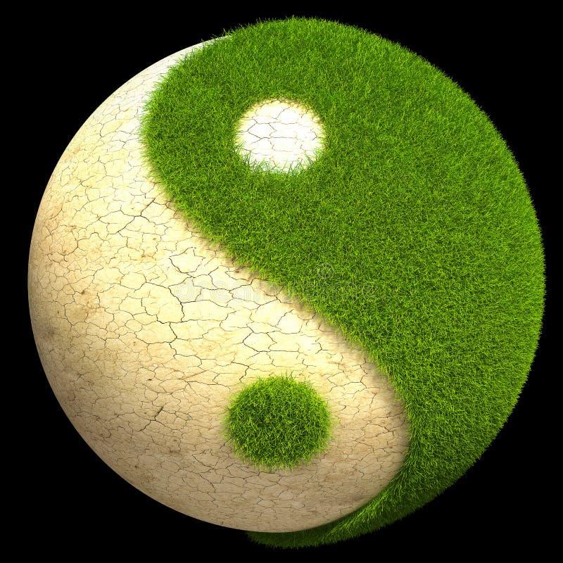 Yin Yang Kugel lizenzfreie abbildung