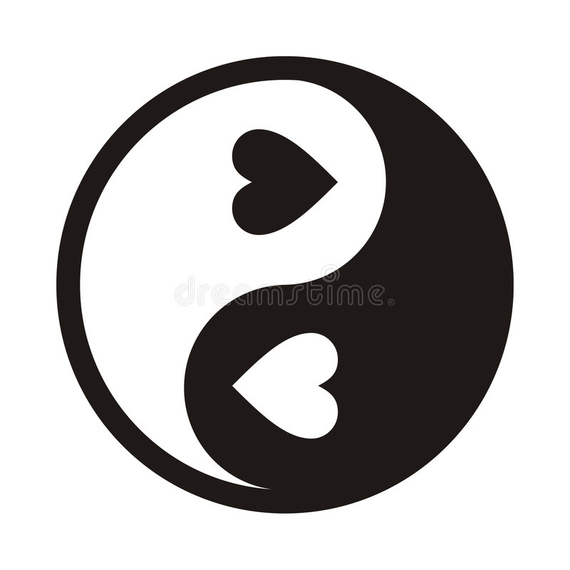 Yin Yang Love stock illustration