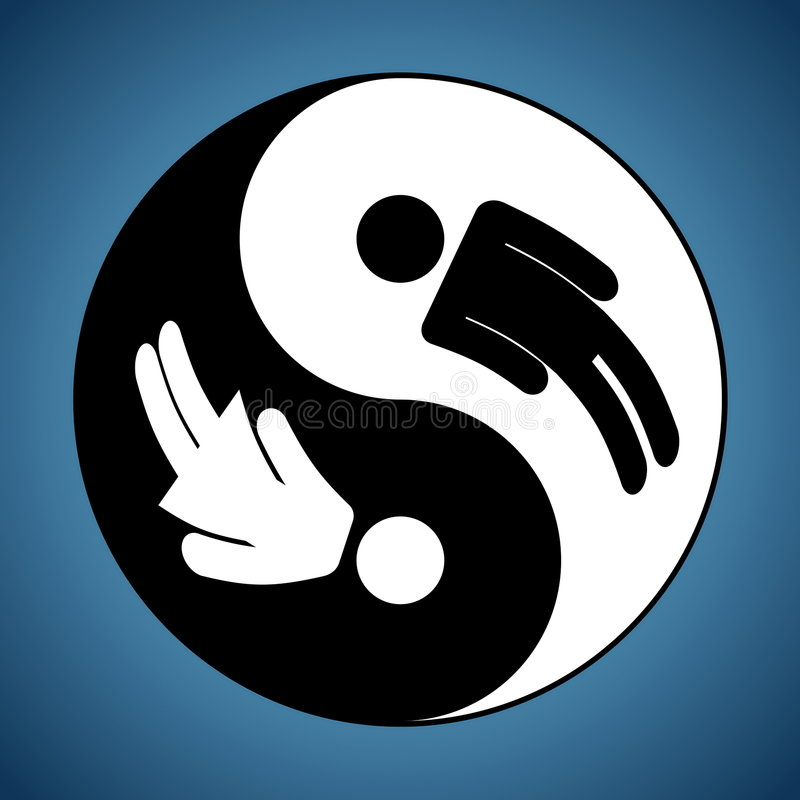 Yin & Yang - Man & Woman vector illustration