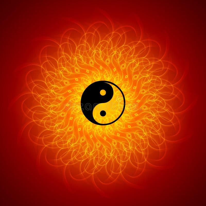 Yin yang on mandala background stock photo image 15517080 - Yin Yang On Mandala Background Stock Photo Image 15517080