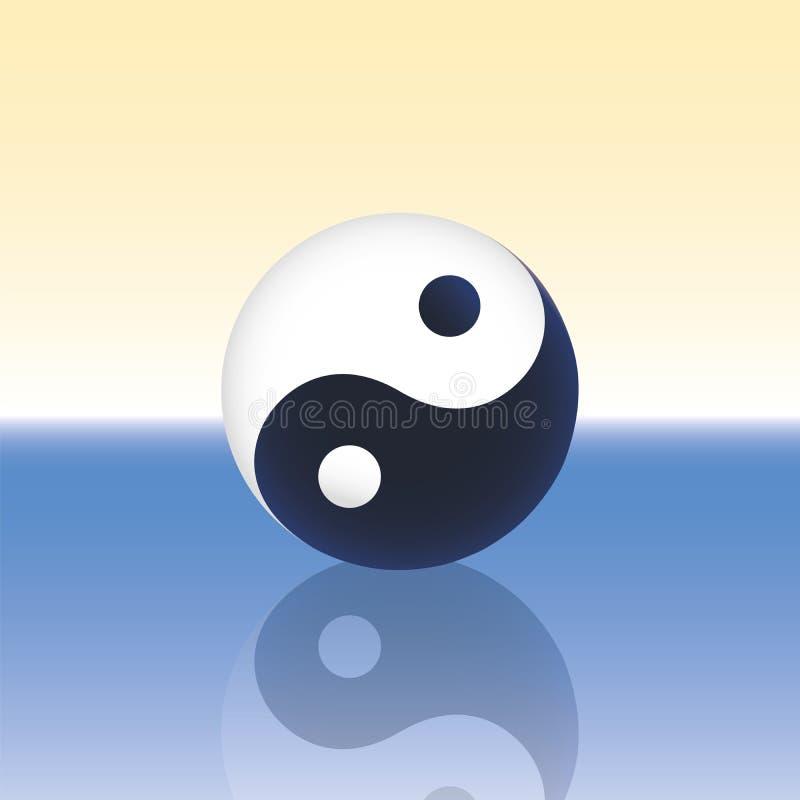 Yin Yang ocean royalty ilustracja