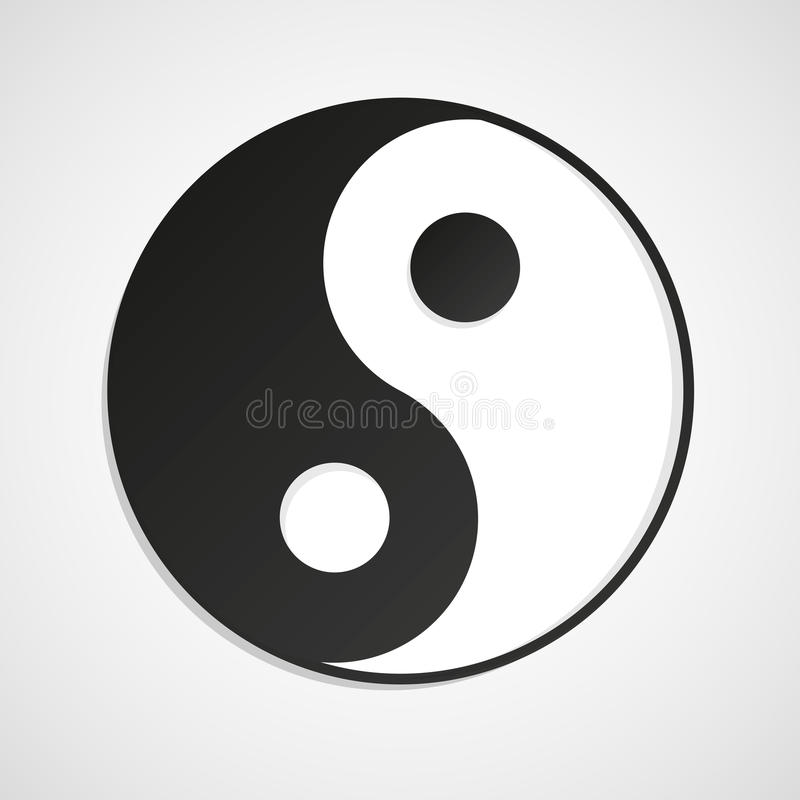Yin yang royalty free stock images