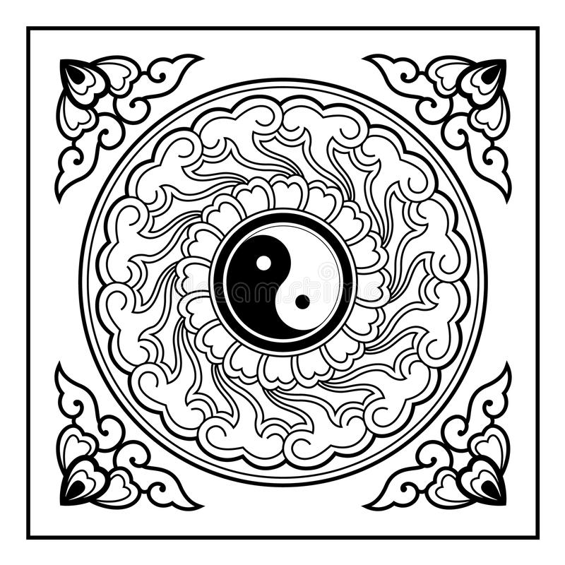 Download Yin Yang Pattern stock vector. Illustration of peace - 34843022
