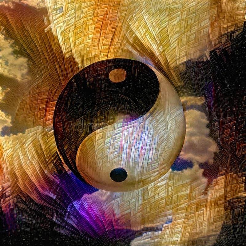 Yin Yang illustrazione vettoriale