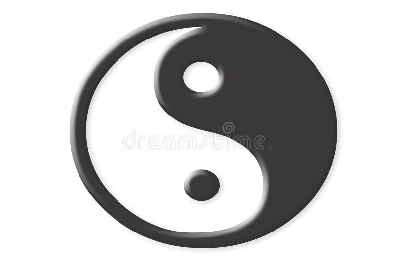 Yin Yang sign. Isolated on white royalty free illustration