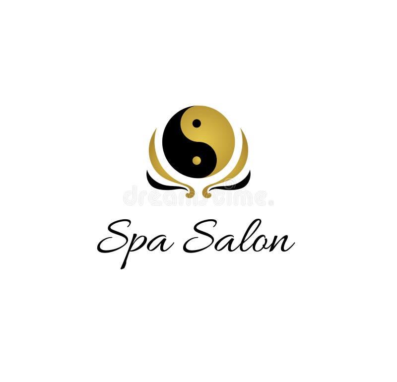 Yin yang spa salon logo. Design royalty free illustration