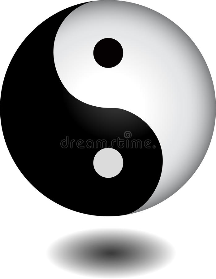 Download Yin Yang Sphere Royalty Free Stock Photo - Image: 23672995