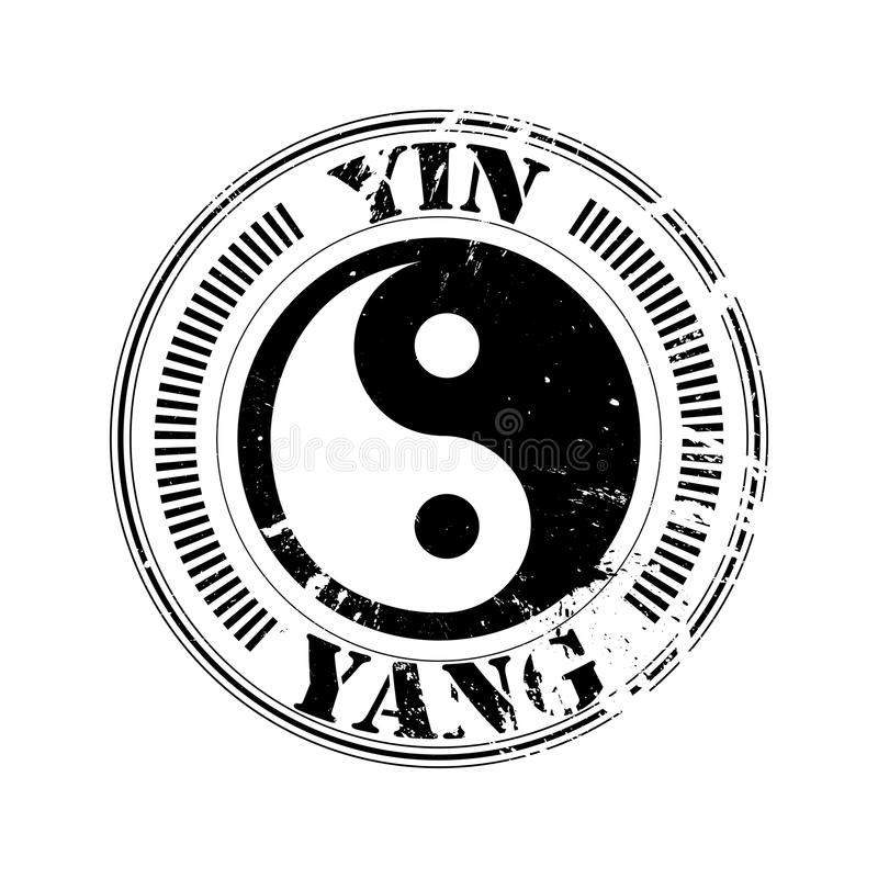 Download Yin And Yang Stamp Stock Photo - Image: 18683210