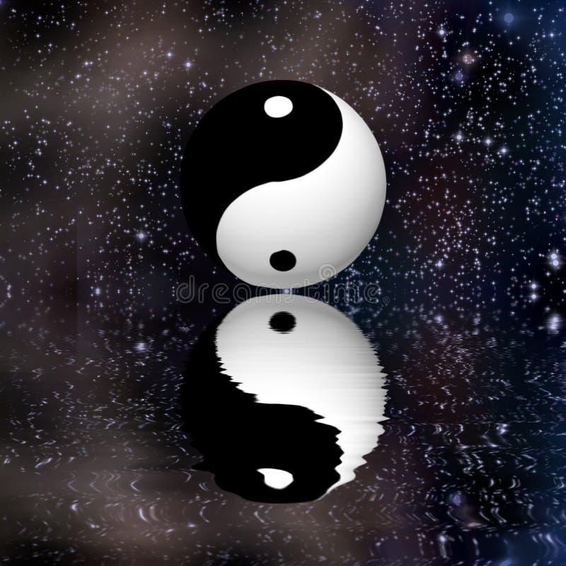 Yin Yang Stars Reflect illustration libre de droits