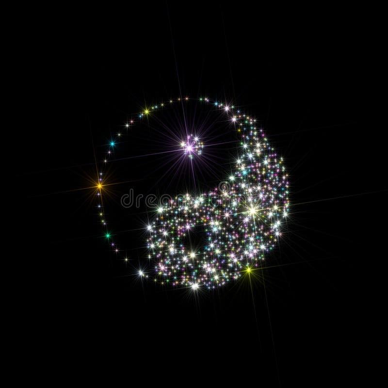 Yin Yang Sterne lizenzfreie abbildung