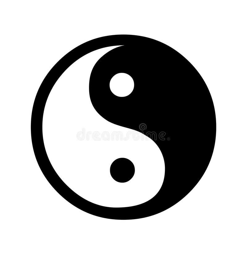 Yin and Yang symbol. Isolated on white background royalty free illustration
