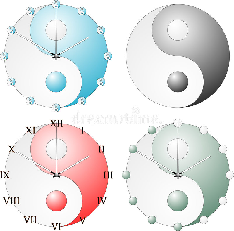 Download Yin Yang symbol stock vector. Image of pointers, second - 1532944