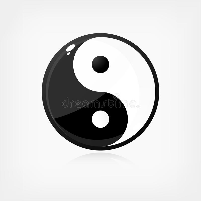 Yin Yang symbol royalty free illustration