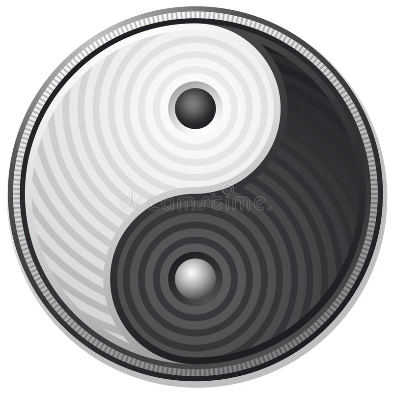 Yin Yang symbol vector illustration