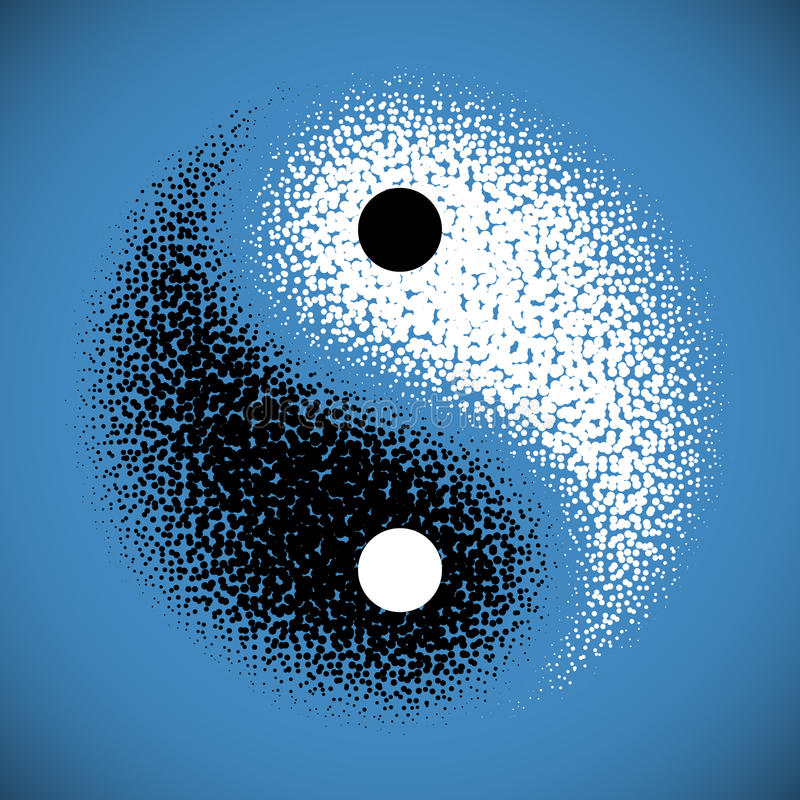 Yin Yang symbol stock illustration