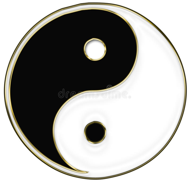 Download Yin and Yang symbol stock illustration. Image of icon - 28715024